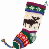 Hand Knit Old World Stockings - Nature