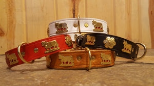 "1"" Small Traditional Swiss Dog Collar"