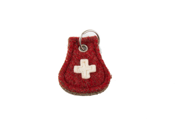 Swiss Boiled Wool Blanket Key Rings by KARLEN Swiss