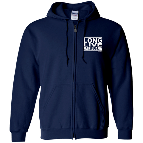 #LongLiveMarijuana - Zip Up Hooded Sweatshirt