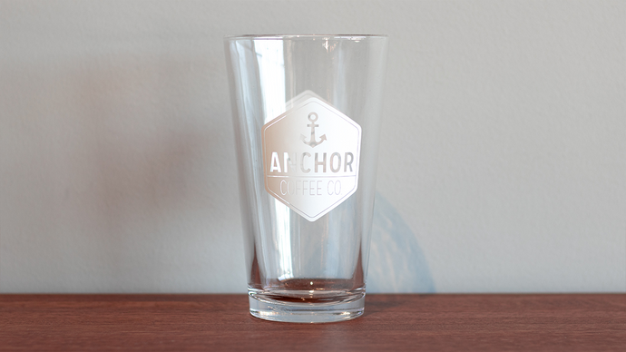 Anchor Coffee Logo Pint Glass