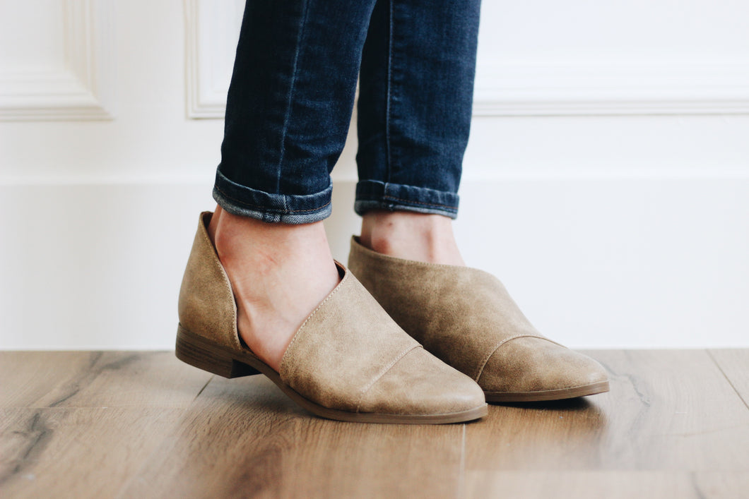 ADDISON BOOTIES IN TAUPE