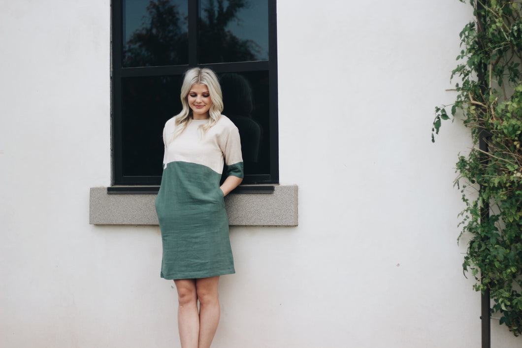 KENNEDY COLORBLOCK DRESS