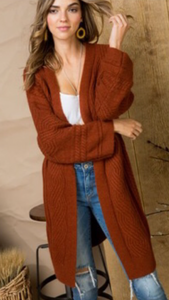 CINNAMON KNIT CARDIGAN