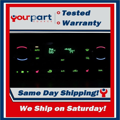 09-10 F-250 F-350 DIGITAL CLIMATE HEATER TEMP A/C CONTROL 9C3T-18C612-DB ✅TESTED