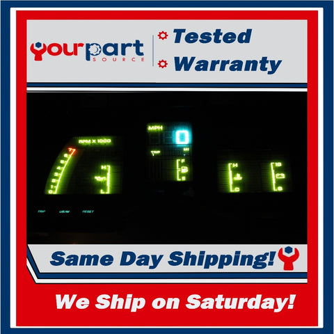TESTED 90-93 CHRYSLER LEBARON DIGITAL INSTRUMENT CLUSTER SPEEDOMETER GAUGES TACH