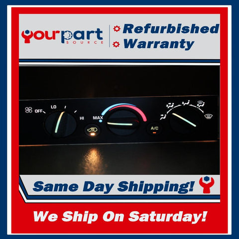 *REMAN* 96-99 CHEVY 1500 2500 C1500 K1500 CLIMATE HEATER AC CONTROL NO R DEFROST