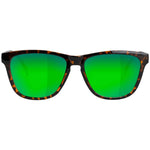 Glassy Deric Polarized Sunglasses - Tortoise/Green Mirror