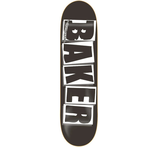Baker Skateboards Brand Logo deck black/white available at No-Comply Skate Shop in Austin, TX
