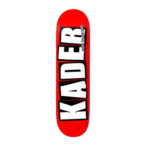 Baker Skateboards Kader Sylla Brand Logo deck red/white available at No-Comply Skate Shop in Austin, TX