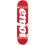 Enjoi Skateboards Flocked Deck Red 7.75