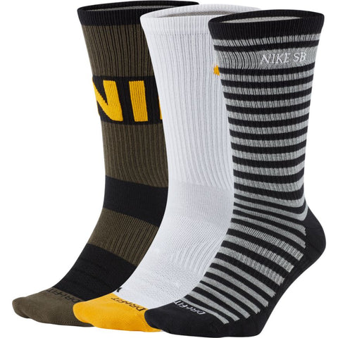 Nike SB Everday Max Lightweight Crew Socks (3 Pack)