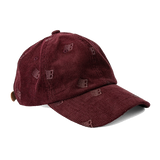 Bronze 56k Corduroy Allover Embroidered Hat - Maroon