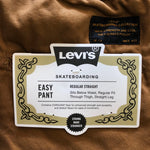 Levi's Easy Pant Brown available at No-Comply Skate Shop in Austin, TX