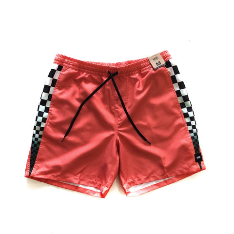 "Vans Volley 17"" Shorts Emberglow/Checkerboard available at No-Comply Skate Shop in Austin, TX"
