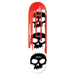 Zero Skateboards 3 Skull Blood Deck 7.875