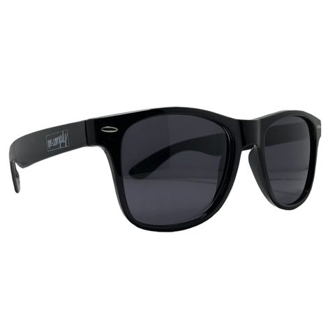 No-Comply Script Box Logo Sunglasses - Black