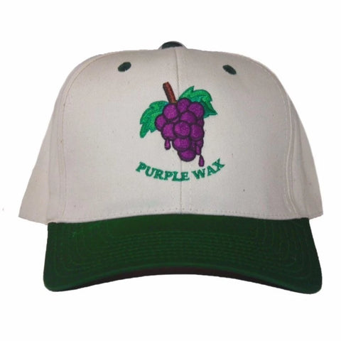 Purple Wax Grape Hat green curved bill snap back available at No-Comply Skate Shop in Austin, TX