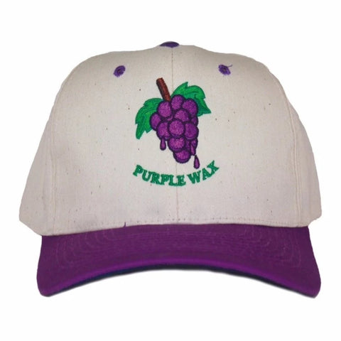Purple Wax Grape Hat purple curved bill snap back available at No-Comply Skate Shop in Austin, TX