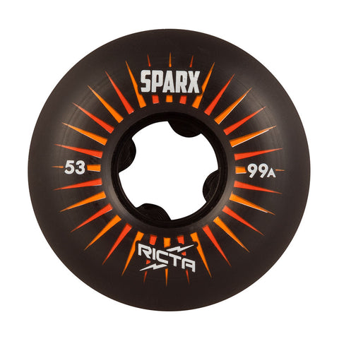Ricta Sparx Black 99a Skateboarding Wheels