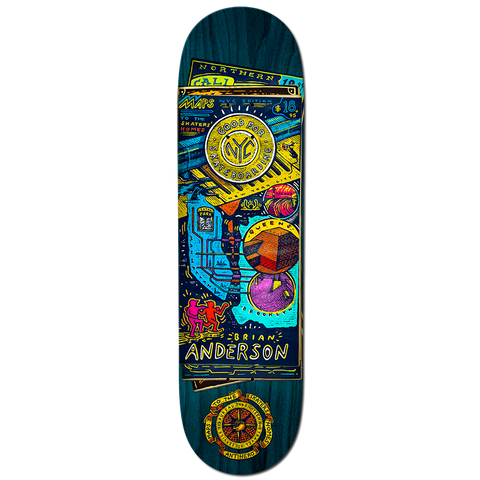 Anti Hero Skateboards BA Maps to Skaters' Homes Deck 8.75