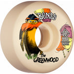 BONES WHEELS PRO STF Skateboard Wheels The Greenwood 54mm V5 Sidecut 99a