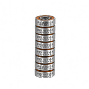 Bronson Speed Co. G3 Skateboard Bearings 8 Pack
