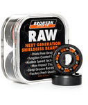 Bronson Speed Co. Raw Skateboard Bearings 8 Pack