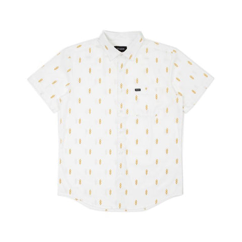 Brixton Charter Print S/S Woven Shirt Off White/Honey
