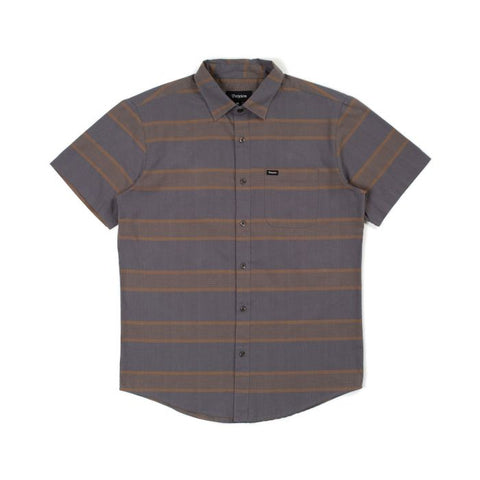 Brixton Charter S/S Woven Shirt Washed Black/Copper