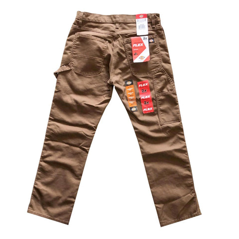 Dickies Timber Brown Flex Carpenter Pants available at No-Comply Skate Shop in Austin, TX