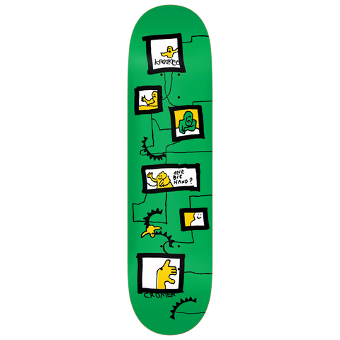 Krooked Skateboards Cromer Frames Deck 8.12