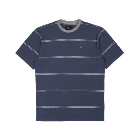 Brixton Hilt S/S Knit Washed Navy