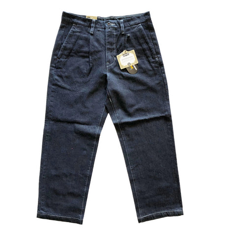 Levi's Pleated Trouser Dark Blue Denim available at No-Comply Skate Shop in Austin, TX