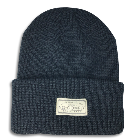 No-Comply Locally Grown Beanie Black Low Crown