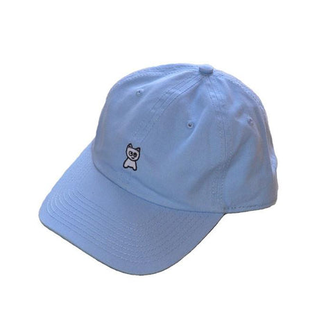 Meow Skateboards Unstructured Hat Baby Blue