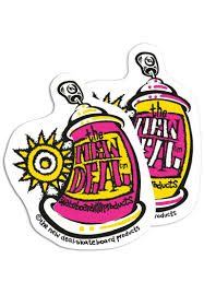 New Deal Skateboards Spray Can Sticker