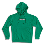 No-Comply Embroidered Script Box Pull Over Hoodie - Kelly Green