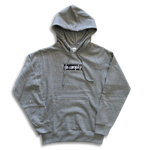 No-Comply Script Box Pull Over Hoodie Heather Grey