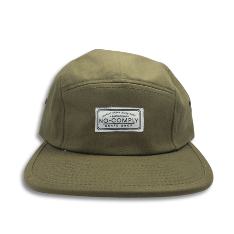 No-Comply 5 Panel Volley Hat Olive Green