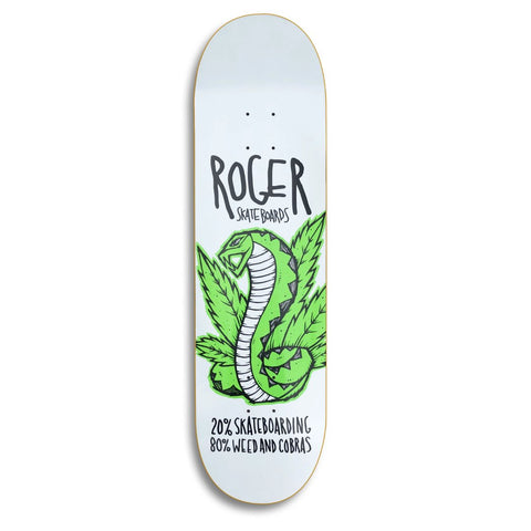 Roger Skate Co. Weed & Cobras deck by Michael Sieben available at No-Comply Skate Shop in Austin, TX