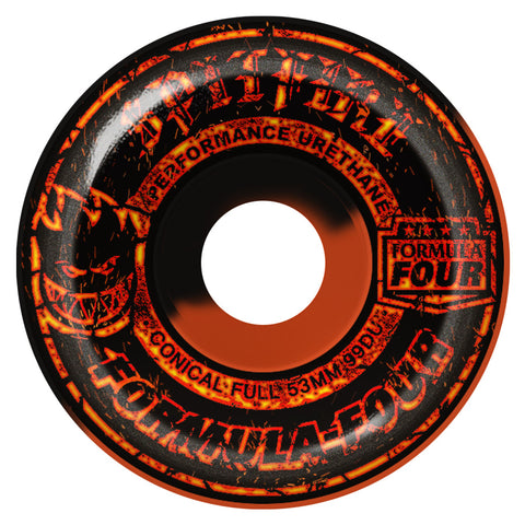Spitfire Formula Four 99a Embers Conical Full Skateboard Wheels
