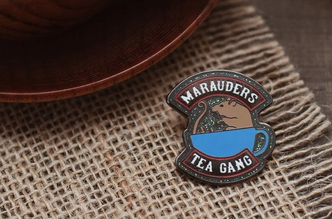 Marauders Wormtail Enamel Pin; Clutch back fastener