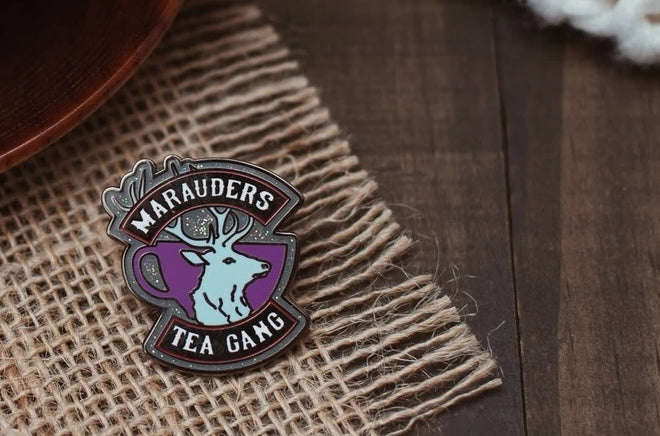 Marauders Prongs Enamel Pin; Clutch back fastener