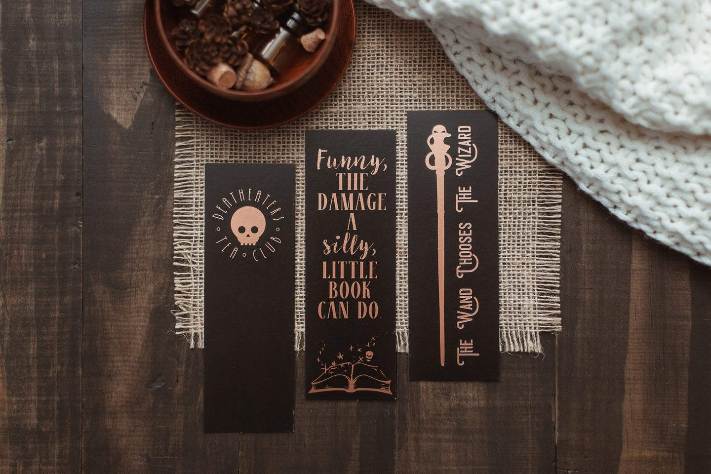 DETC Rose Gold Paper Bookmarks