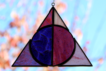 Load image into Gallery viewer, Deathly Hallows Suncatcher - Pink/Purple