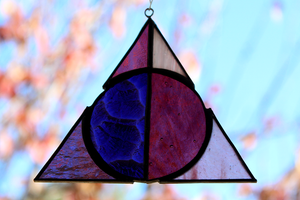 Deathly Hallows Suncatcher - Pink/Purple