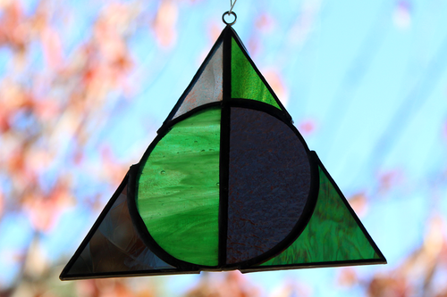 Deathly Hallows Suncatcher - Slytherin