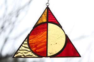 Deathly Hallows Suncatcher - Gryffindor