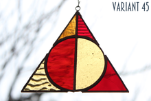 Load image into Gallery viewer, Deathly Hallows Suncatcher - Gryffindor